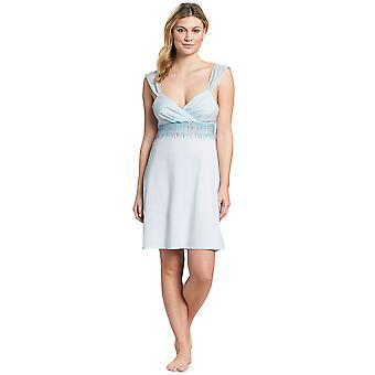 Feraud 3191124-11770 Damen Couture Kristallblau Baumwolle Nachtkleid Nachthemd