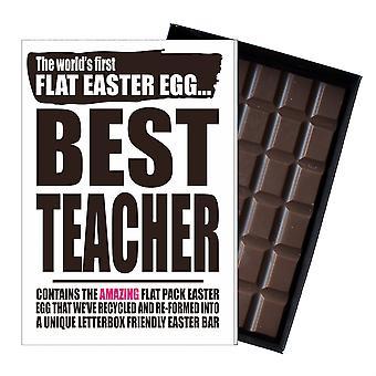Funny flad påske æg chokolade bar lykønskningskort gave mænd kvinder lærer UK EIYF145