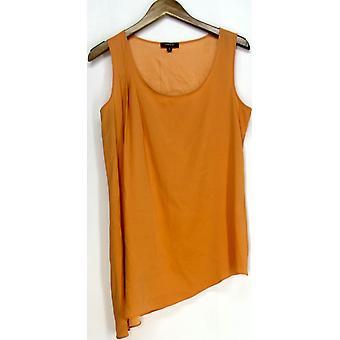 Drew Clothing Sleeveless Knit Top Orange Solid Womens