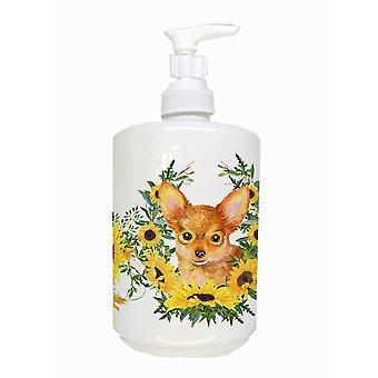 Carolines Treasures  CK2914SOAP Toy Terrier Ceramic Soap Dispenser