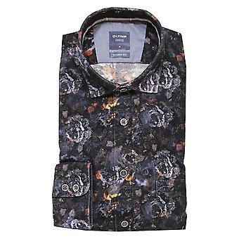 OLYMP Olymp Blue Shirt 4048 18