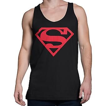 Superboy Red Symbol Tank Top