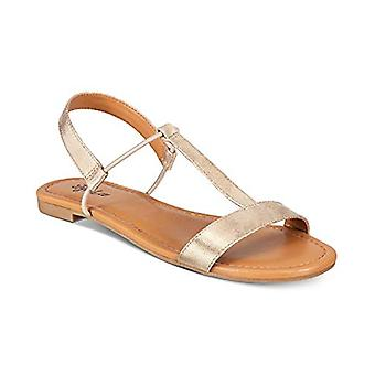 Style & Co. KRISTEE T-Strap Flat Sandals Gold Size 9.5M