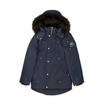 Moose Knuckles Junior Navy Blue Unisex Parka Jacket