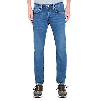 Edwin ED-55 CS Braxton blå denim Regular avsmalnande Eastside tvätta jeans