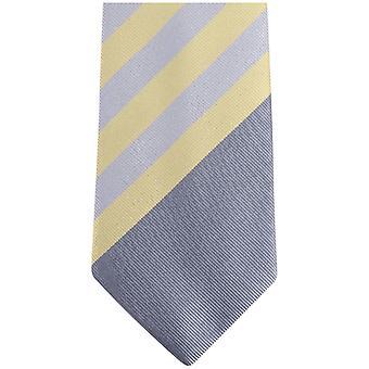 Gene Meyer New Danville Diagonal Striped Tie - Smoke/Lemon/Beige