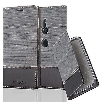 Cadorabo tilfelle for Sony Xperia XZ2 tilfelle dekselet - telefonveske med magnetisk lås, stativ funksjon og kortrom – Case Cover Beskyttende Case Book Folding Stil