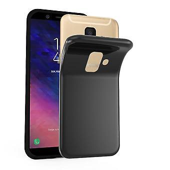 Cadorabo Hülle für Samsung Galaxy A6 2018 Case Cover - Handyhülle aus flexiblem TPU Silikon – Silikonhülle Schutzhülle Ultra Slim Soft Back Cover Case Bumper