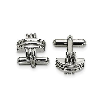 Stainless Steel Polished Fancy X Cuff Links Jewelry Gifts for Men
