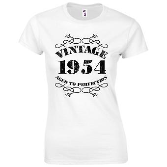 65 års fødselsdag gaver til kvinder hendes vintage 1954 T-shirt