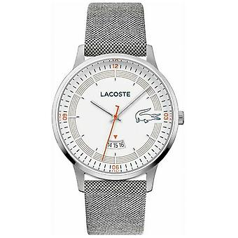 Lacoste | Men's Madrid | Grey Leather Strap | White Dial | 2011031 Watch