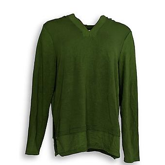 Cuddl Duds Women's Top Ultra Soft Comfort Hooded Tunic Green A346814