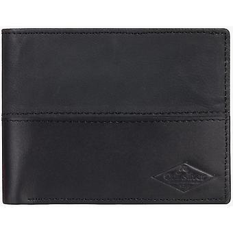 Quiksilver carteira de couro Desertruker em preto