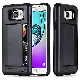 Cadorabo Case for Samsung Galaxy A5 (Model 2016) Case Cover - Phone Case with Card Case - Hard Case TPU Silicone Protective Case for Hybrid Cover in Outdoor Heavy Duty Design