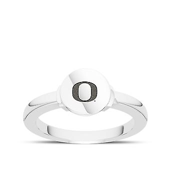 University Of Oregon Engraved Sterling Silver Signet Ring
