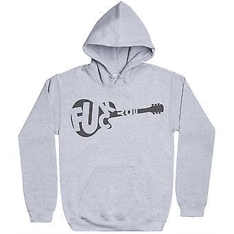 Gitarr F * CK YOU-mens hoodie