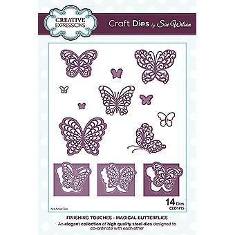 Mourir d'Expressions créatives finitions Collection magique papillons