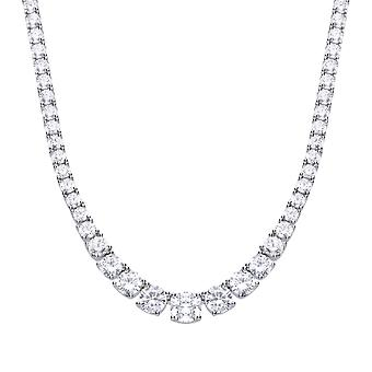 Diamonfire Graduated Cubic Zirconia Tennis Necklace N4338