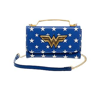 Wonder Woman Handbag Purse Classic WW Logo new Official DC Comics Blue