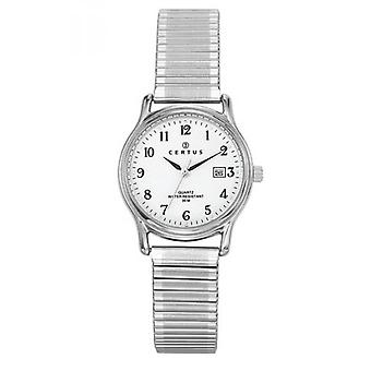 Women's m tal and chrome watch