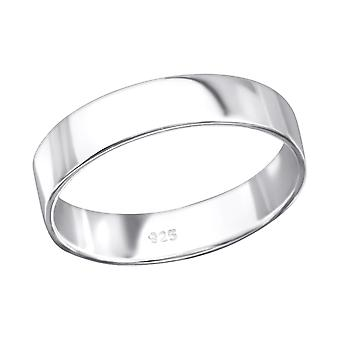 Band - 925 Sterling Silver Plain Rings - W28204X