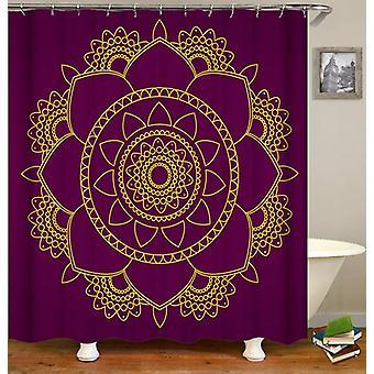Mandala med lilla bakgrunn dusj Curtain