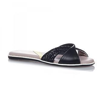 Butterfly Twists Ora Ladies Sandals Black Glitter