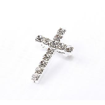 Rhinestone Cross Brooch