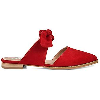 Brinley Co. Womens Bow Accent Slip-on Flat, Red 7 Regular US