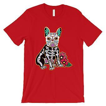 Frenchie dag av Dead Funny Halloween kostyme søt menns rød T-skjorte