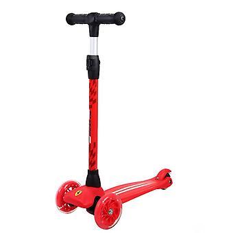 Chipolino Kinderroller, Scooter Ferrari, 3 PU-Räder, ABEC-5, Höhe einstellbar