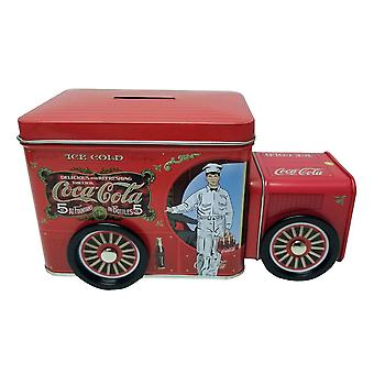 Coke Truck Tin Money Bank