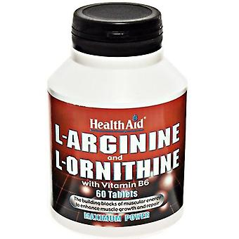 Health Aid L-Arginine and L-Ornithine 60 Caps