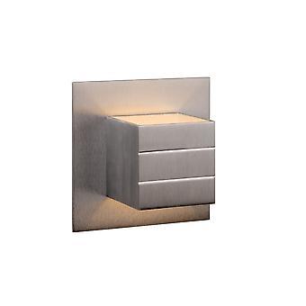 Applique in cromo satinato alluminio lucide Bok moderna piazza