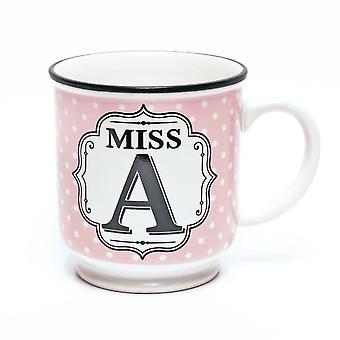 History & Heraldry Alphabet Mug - Miss A