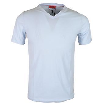 Hugo Boss Dandre Cotton Plain Sky Blue V-neck T-Shirt