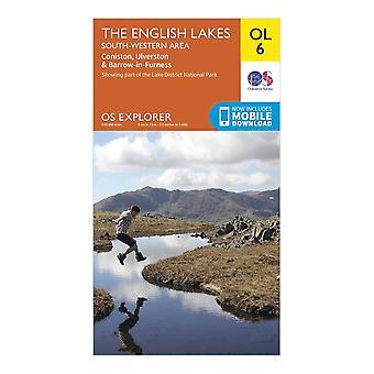 New Ordnance Survey Explorer OL6 The English Lakes - South Western Area Orange