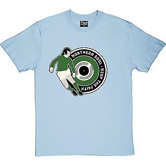 "George Best ""Northern Soul"" (Noord-Ierland) Light Blue Men's T-shirt"