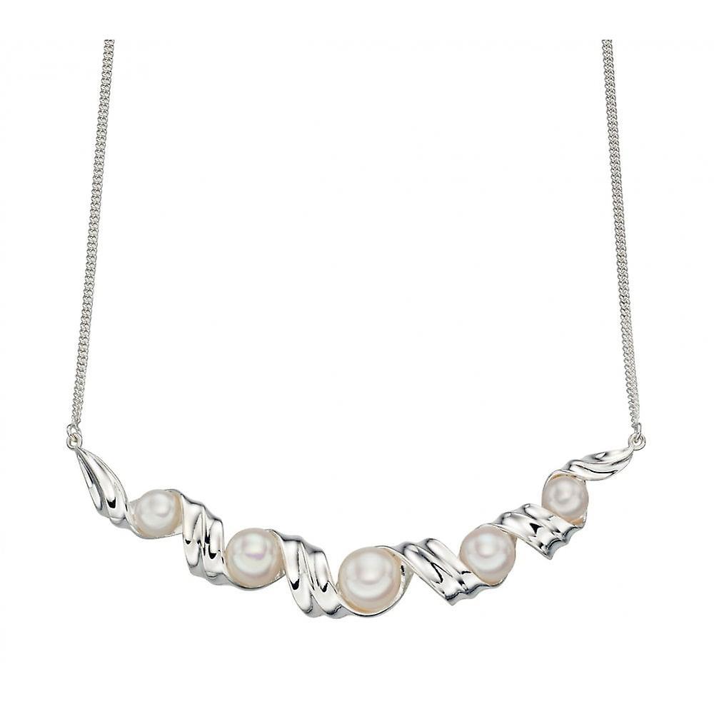 Joshua James Allure Silver & Button Pearl Necklace