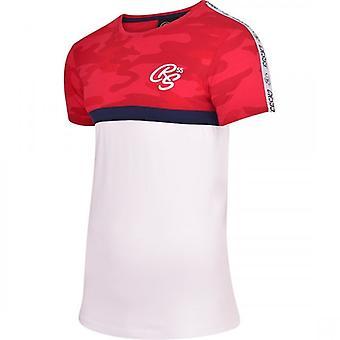 Crosshatch Mens designer camo manga curta camoflage tripulação gola redonda camiseta Top