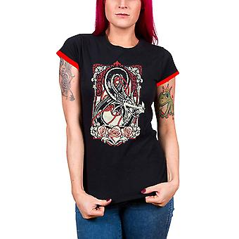 Dungeons And Dragons T Shirt Logo new Official Womens Skinny Fit Black
