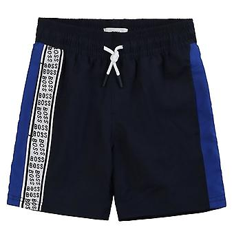 Hugo Boss Kids Logo Stampa Swimshorts