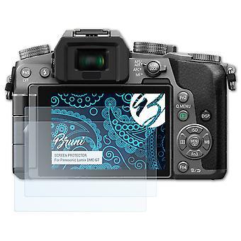 Bruni 2x Schutzfolie kompatibel mit Panasonic Lumix DMC-G7 Folie