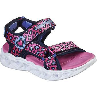 Skechers Girls S Lights Heart Lights Savvy Cat Sandals