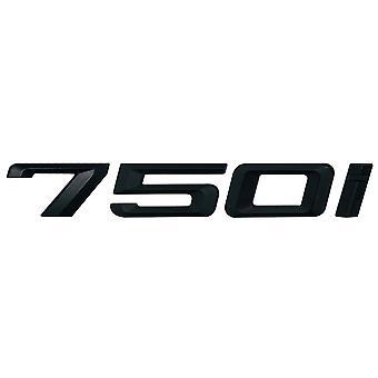 Matt Black BMW 750i Car Model Rear Boot Number Letter Sticker Decal Badge Emblem For 7 Series E38 E65 E66E67 E68 F01 F02 F03 F04 G11 G12