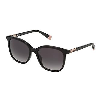 Furla SFU247 0700 Shiny Black/Smoke Gradient Sunglasses