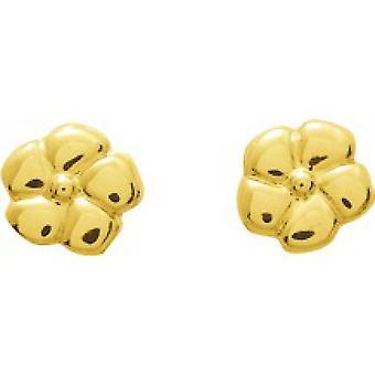 Blumen Gold 750/1000 gelbe Ohrringe (18K)