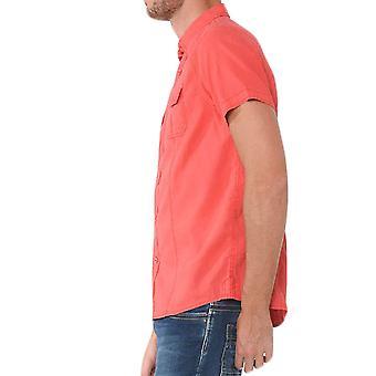 Straight-cut short-sleeved shirt
