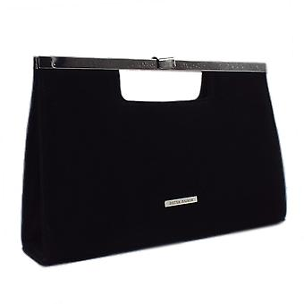 Peter Kaiser Wye Classic Occasion Clutch Bag In Black Suede