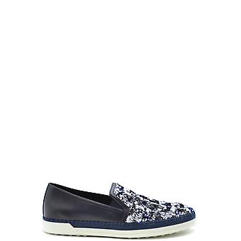 Tod's Ezbc025073 Women's Blue Leather Loafers